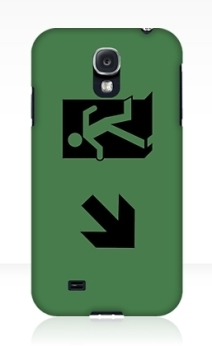 Running Man Exit Sign Samsung Galaxy Mobile Phone Case 70