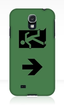 Running Man Exit Sign Samsung Galaxy Mobile Phone Case 71