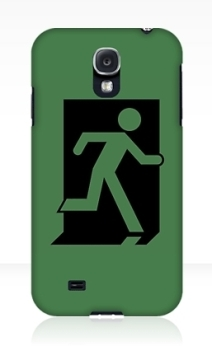 Running Man Exit Sign Samsung Galaxy Mobile Phone Case 72