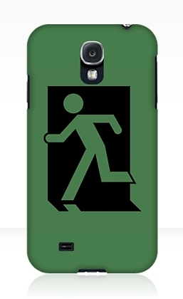 Running Man Exit Sign Samsung Galaxy Mobile Phone Case 73