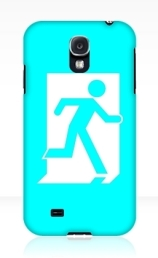 Running Man Exit Sign Samsung Galaxy Mobile Phone Case 74