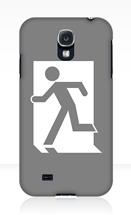 Running Man Exit Sign Samsung Galaxy Mobile Phone Case 75