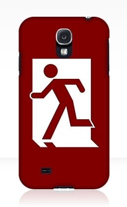 Running Man Exit Sign Samsung Galaxy Mobile Phone Case 76