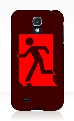 Running Man Exit Sign Samsung Galaxy Mobile Phone Case 77