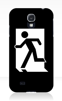 Running Man Exit Sign Samsung Galaxy Mobile Phone Case 78