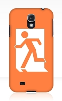 Running Man Exit Sign Samsung Galaxy Mobile Phone Case 79
