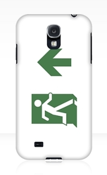 Running Man Exit Sign Samsung Galaxy Mobile Phone Case 8