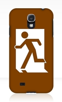 Running Man Exit Sign Samsung Galaxy Mobile Phone Case 80