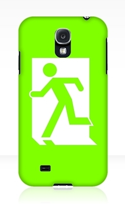 Running Man Exit Sign Samsung Galaxy Mobile Phone Case 81