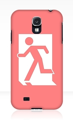 Running Man Exit Sign Samsung Galaxy Mobile Phone Case 84
