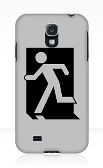 Running Man Exit Sign Samsung Galaxy Mobile Phone Case 86