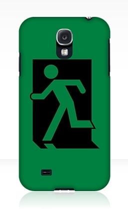 Running Man Exit Sign Samsung Galaxy Mobile Phone Case 90