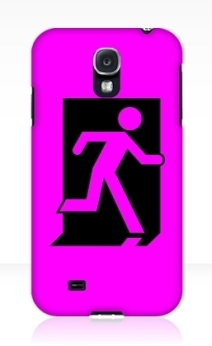 Running Man Exit Sign Samsung Galaxy Mobile Phone Case 91