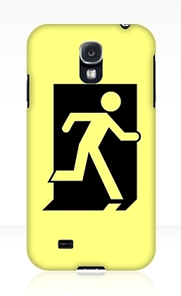 Running Man Exit Sign Samsung Galaxy Mobile Phone Case 92