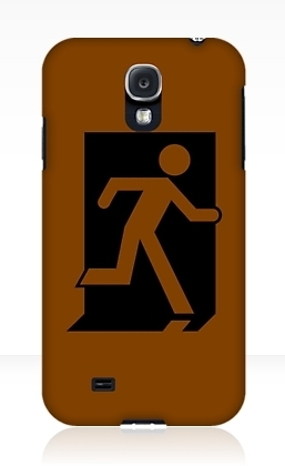 Running Man Exit Sign Samsung Galaxy Mobile Phone Case 93
