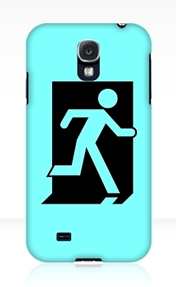 Running Man Exit Sign Samsung Galaxy Mobile Phone Case 95