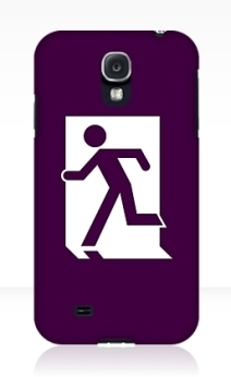Running Man Exit Sign Samsung Galaxy Mobile Phone Case 97