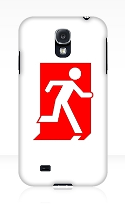 Running Man Exit Sign Samsung Galaxy Mobile Phone Case 98