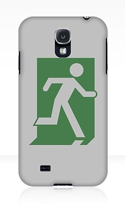 Running Man Exit Sign Samsung Galaxy Mobile Phone Case 99