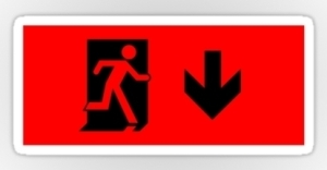 Running Man Exit Sign Sticker Decals 10
