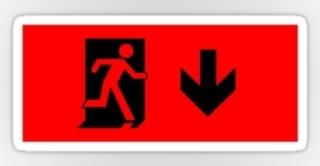 Running Man Exit Sign Sticker Decals 10