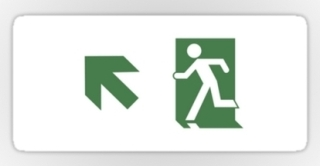Running Man Exit Sign Sticker Decals 100