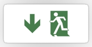 Running Man Exit Sign Sticker Decals 102
