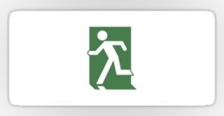 Running Man Exit Sign Sticker Decals 103