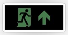 Running Man Exit Sign Sticker Decals 104