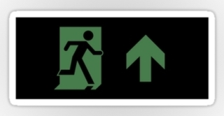 Running Man Exit Sign Sticker Decals 104