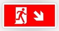 Running Man Exit Sign Sticker Decals 105