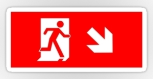 Running Man Exit Sign Sticker Decals 105