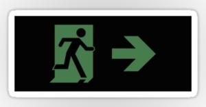 Running Man Exit Sign Sticker Decals 106