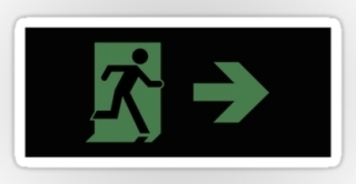 Running Man Exit Sign Sticker Decals 106