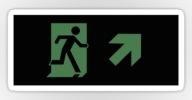 Running Man Exit Sign Sticker Decals 107