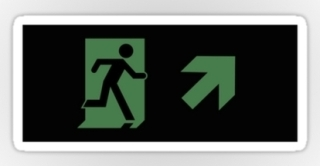 Running Man Exit Sign Sticker Decals 107