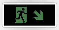 Running Man Exit Sign Sticker Decals 108