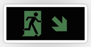 Running Man Exit Sign Sticker Decals 108