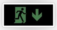 Running Man Exit Sign Sticker Decals 109