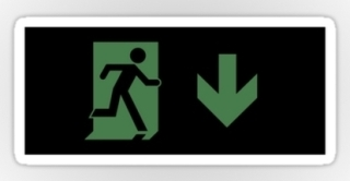 Running Man Exit Sign Sticker Decals 109