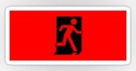 Running Man Exit Sign Sticker Decals 11