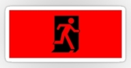 Running Man Exit Sign Sticker Decals 11