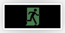 Running Man Exit Sign Sticker Decals 110