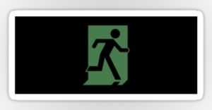 Running Man Exit Sign Sticker Decals 110