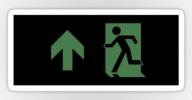 Running Man Exit Sign Sticker Decals 111