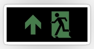 Running Man Exit Sign Sticker Decals 111
