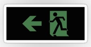 Running Man Exit Sign Sticker Decals 112