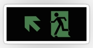 Running Man Exit Sign Sticker Decals 112