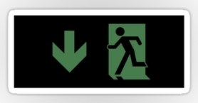 Running Man Exit Sign Sticker Decals 115