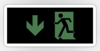 Running Man Exit Sign Sticker Decals 115